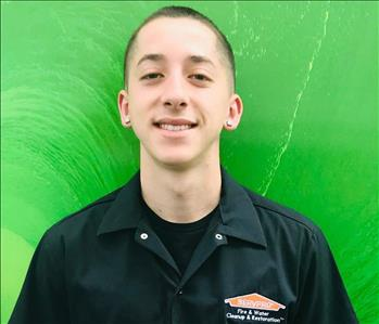 This image shows a male crew chief at SERVPRO
